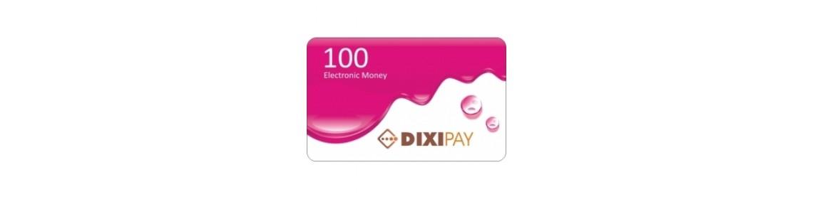 Dixipay prepaid card 100 Dollar