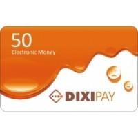 Dixipay prepaid card 50 Dollar